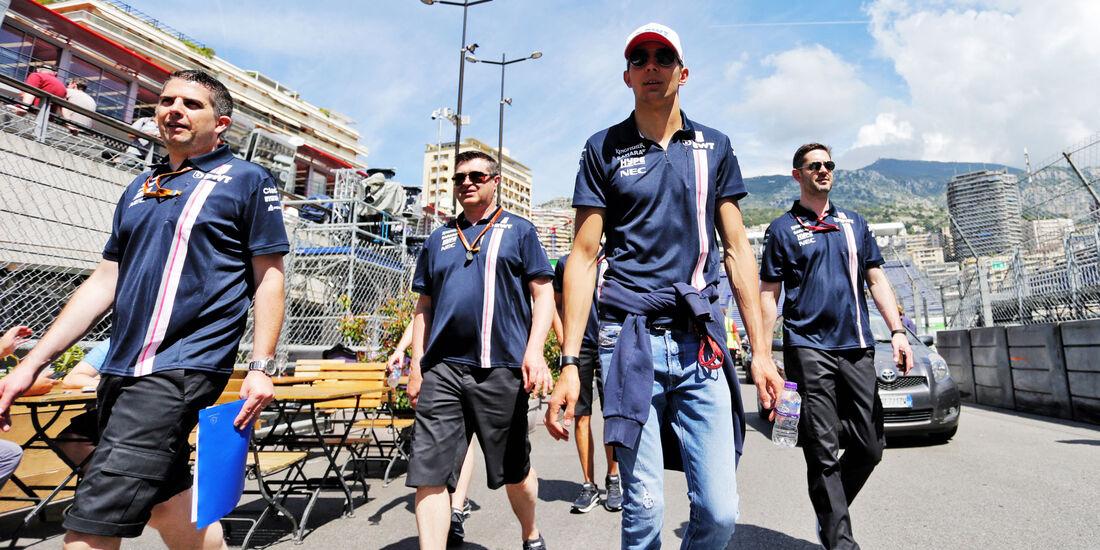 Esteban Ocon - Force India - GP Monaco - Formel 1 - Mittwoch - 23.5.2018