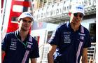 Esteban Ocon - Lucas Auer - Force India - GP Ungarn - Budapest - Formel 1 - Freitag - 28.7.2017