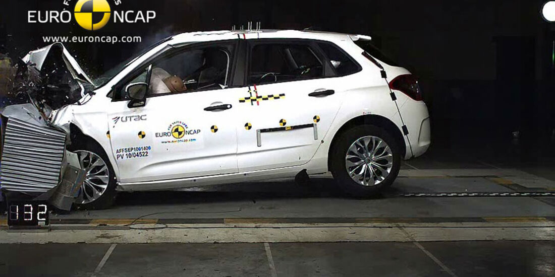 EuroNCAP-Crashtest Citroen C4, Frontal-Crashtest