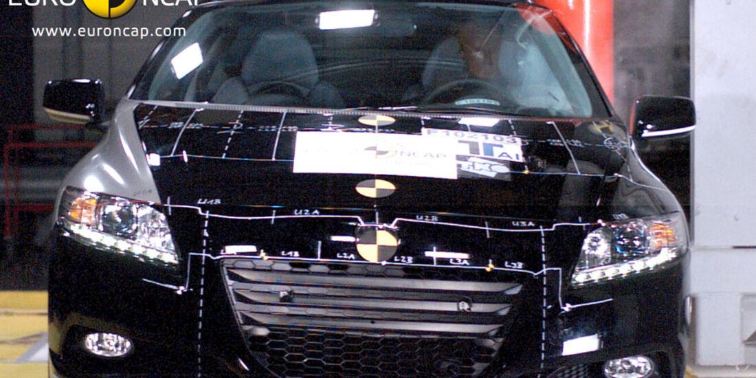EuroNCAP-Crashtest Honda CR-Z, Pfahl-Crashtest