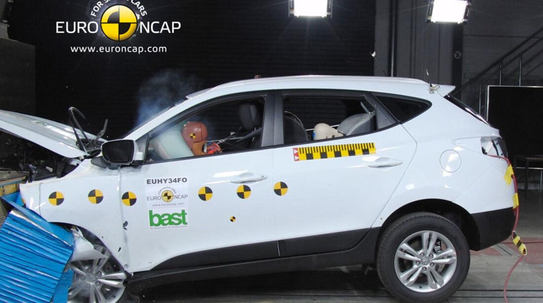 EuroNCAP-Crashtest Hyundai IX35, Frontal-Crashtest