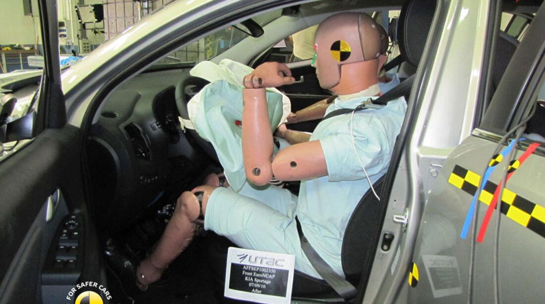 EuroNCAP-Crashtest, Kia Sportage, Fahrer-Crashtest