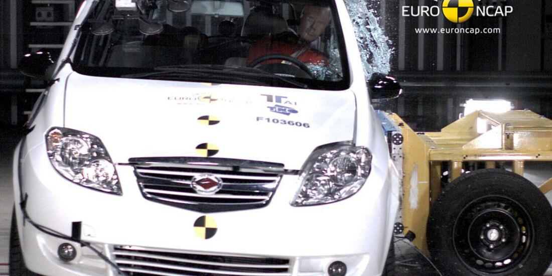 EuroNCAP-Crashtest, Landwind CV9, Pfahl-Crashtest