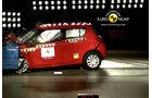 EuroNCAP-Crashtest Suzuki Swift, Frontal-Crashtest