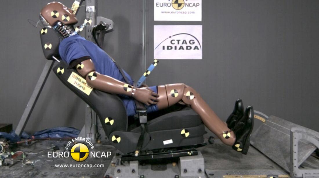 EuroNCAP-Crashtest, VW Amarok, Heckaufpralltest