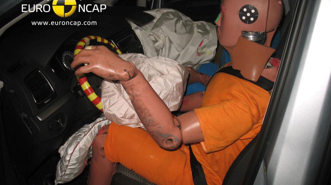 EuroNCAP-Crashtest, VW Sharan, Fahrer-Crashtest