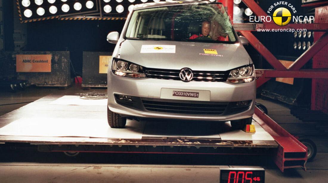 EuroNCAP-Crashtest, VW Sharan, Pfahl-Crashtest