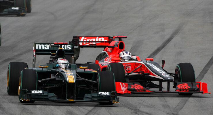 F1 Lotus gegen Virgin