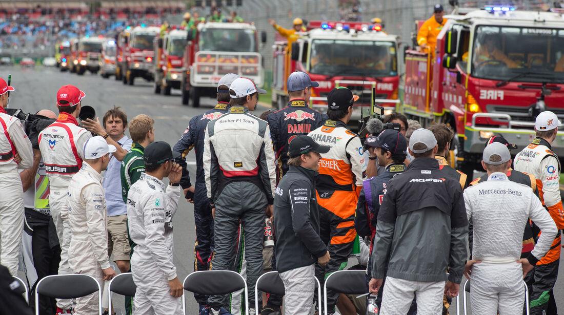 F1-Piloten - Formel 1 - GP Australien 2014 - Danis Bilderkiste