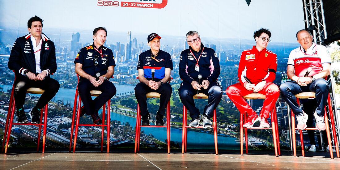 F1-Teamchefs GP Australien 2019