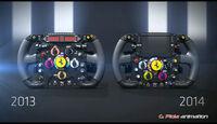 F1 Technik 2014 - Ferrari F14T Lenkrad