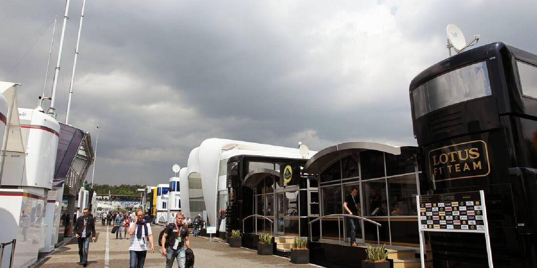 Fahrerlager - Formel 1 - GP Deutschland - 21. Juli 2012