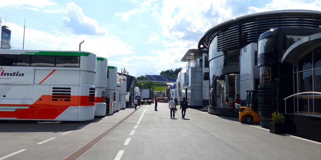 Fahrerlager - Formel 1 - GP Österreich - 18. Juni 2014