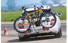 Fahrradträger-Test, Handling