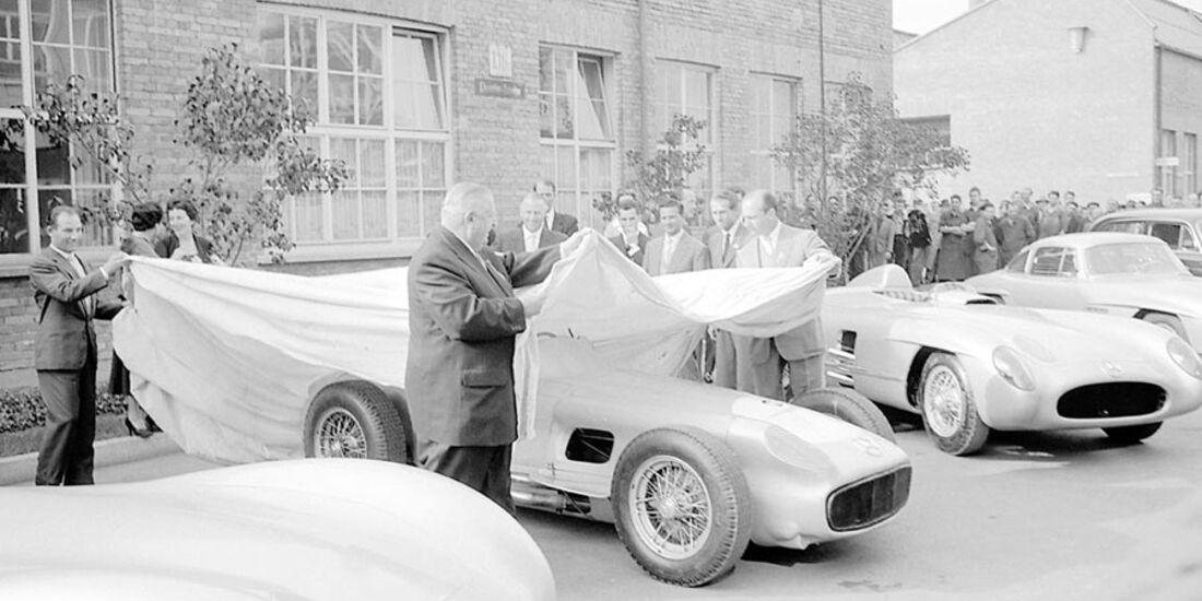 Fangio Moss Neubauer 1955