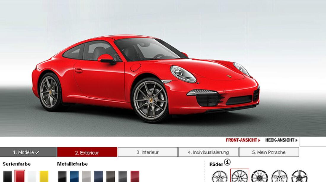 Farbpalette, Porsche 911 Carrera 991