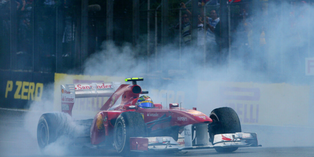 Felipe Massa Burnout GP Brasilien 2011