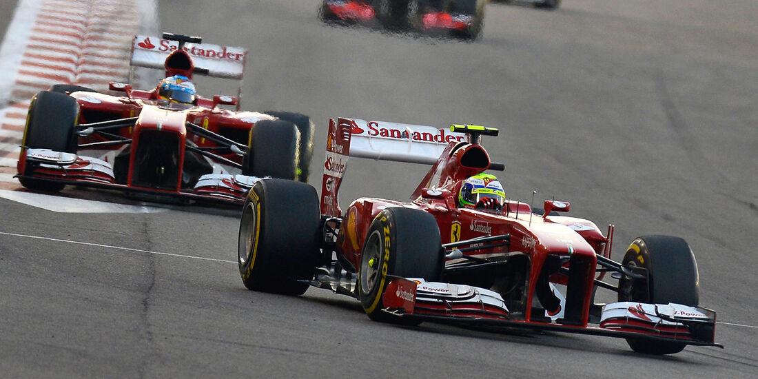 Felipe Massa & Fernando Alonso - Ferrari - GP Abu Dhabi 2013