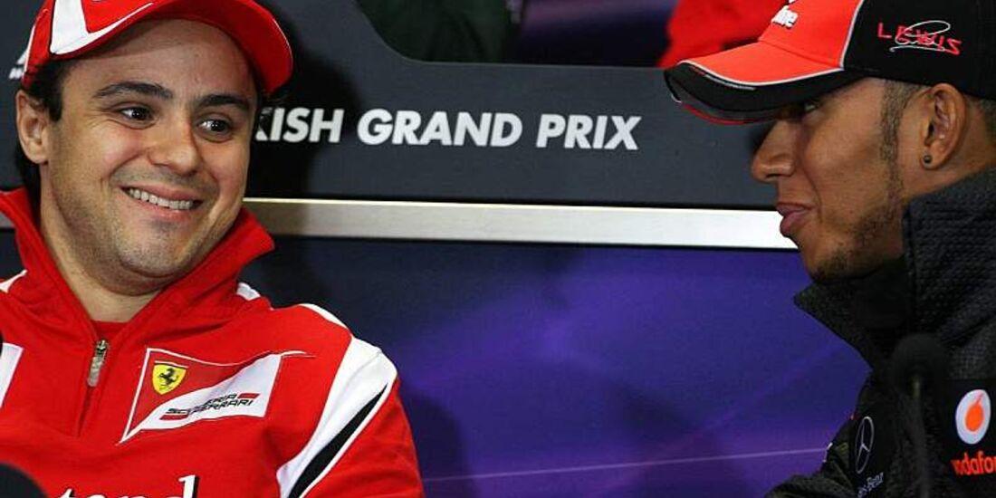 Felipe Massa (Ferrari) und Lewis Hamilton (McLaren)