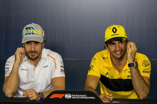 Fernando Alonso - Carlos Sainz - GP Spanien 2018