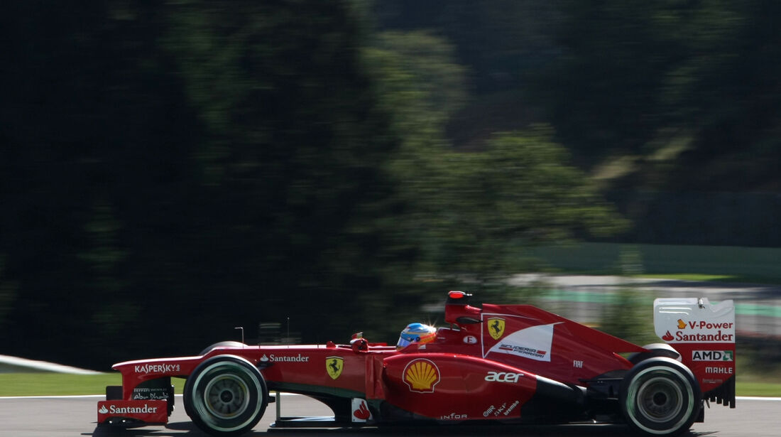 Fernando Alonso - Ferrari - Formel 1 - GP Belgien - Spa-Francorchamps - 1. September 2012