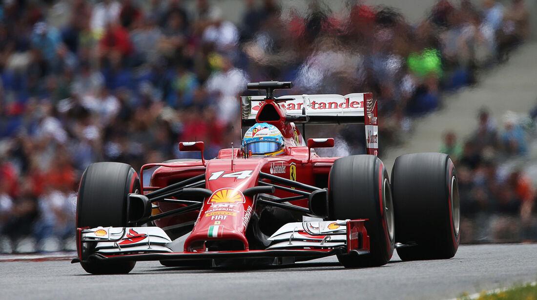 Fernando Alonso - Ferrari - Formel 1 - GP Österreich - Spielberg - 21. Juni 2014