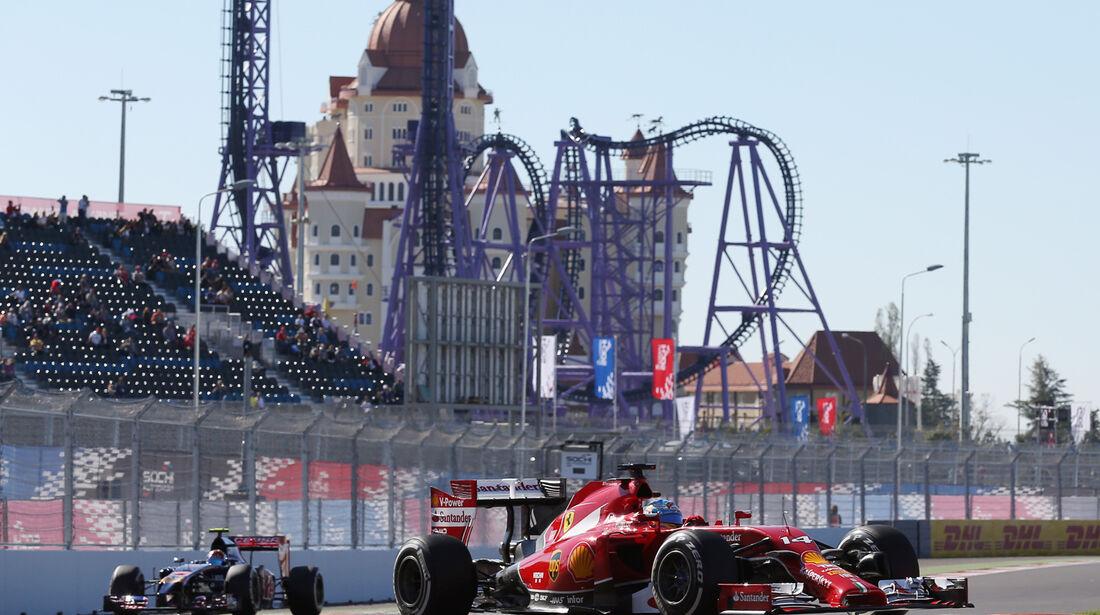 Fernando Alonso - Ferrari - Formel 1 - GP Russland - 11. Oktober 2014