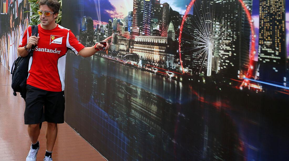 Fernando Alonso - Ferrari - Formel 1 - GP Singapur - 20. September 2012