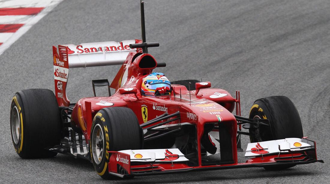 Fernando Alonso, Ferrari, Formel 1-Test, Barcelona, 21. Februar 2013