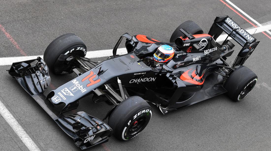 Fernando Alonso - McLaren - Silverstone-Test - 12- Juli 2016