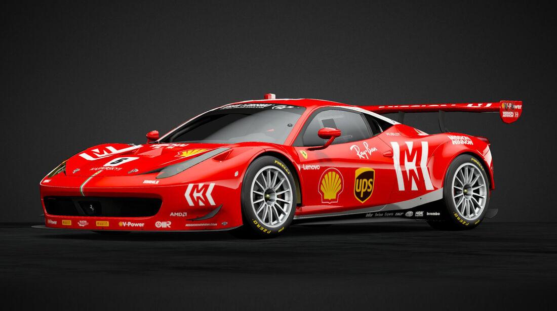 Ferrari 458 Italia GT3 im F1-Design 2019-