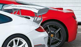 Ferrari 458 Italia, Porsche 911 GT3 RS 4.0, Heckspoiler