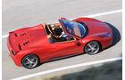 Ferrari 458 Spider, Seitenansicht, Luftaufnahme