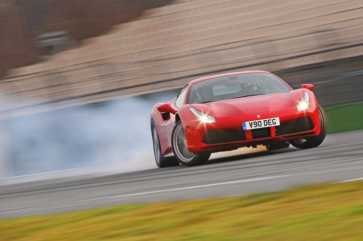 Ferrari 488 GTB, Driften