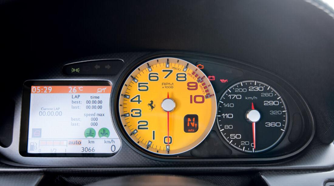 Ferrari 599 GTO, Rundinstrumente