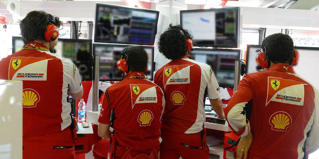 Ferrari - Boxen-Reportage - Formel 1 - GP Ungarn - 2014