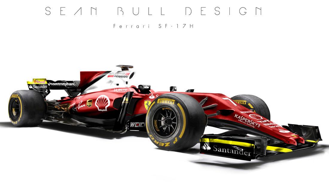 Ferrari - F1-Designs 2017 - Sean Bull - Formel 1