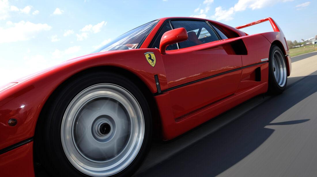 Ferrari F40, Seitenansicht, Rad, Felge