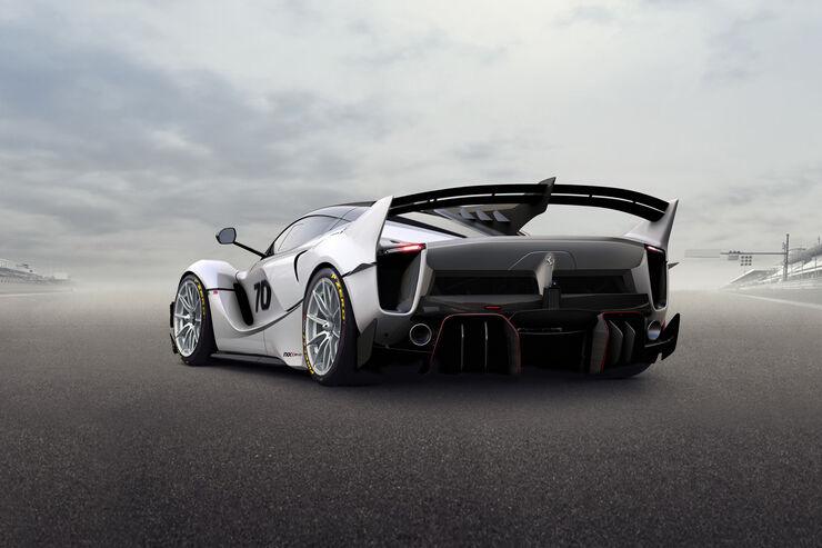 Update für den Hybrid-Sportwagen Ferrari FXX K: 1.050-PS-Hypercar jetzt auch als Evo