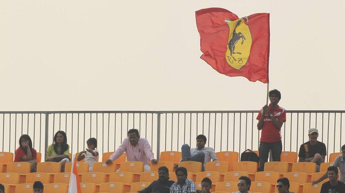 Ferrari Fans - Formel 1 - GP Indien - 28. Oktober 2012