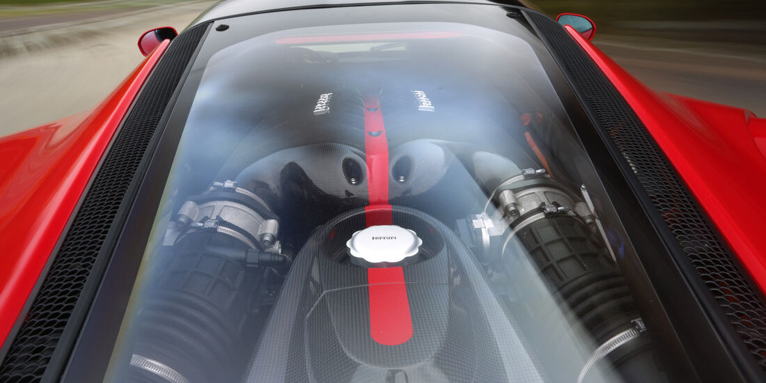 Ferrari LaFerrari, Motorabdeckung