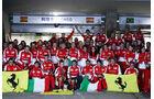 Ferrari Siegerfoto - Formel 1 - GP China - 14. April 2013