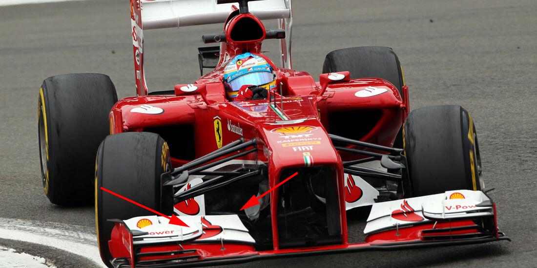 Ferrari - Technik - GP Ungarn 2013