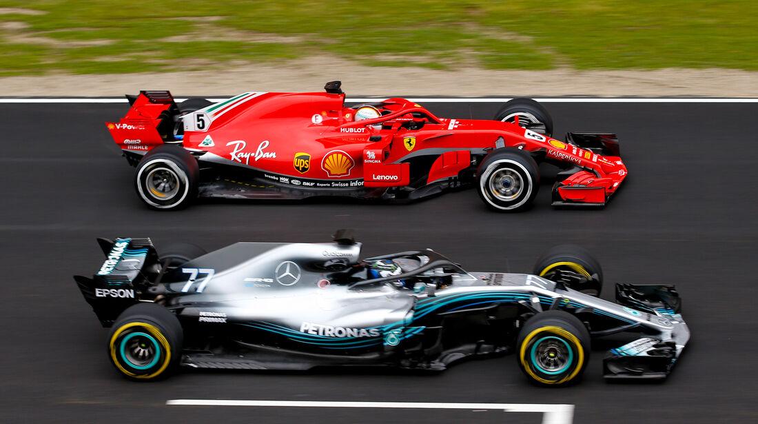 Ferrari vs. Mercedes - Barcelona-Test 2018