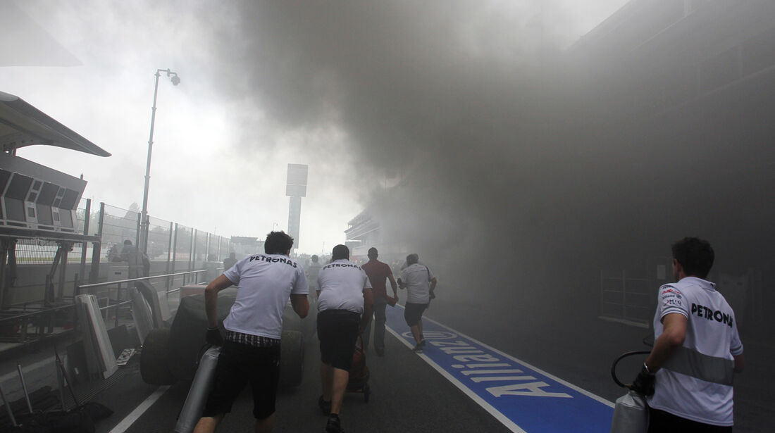 Feuer Williams GP Spanien 2012