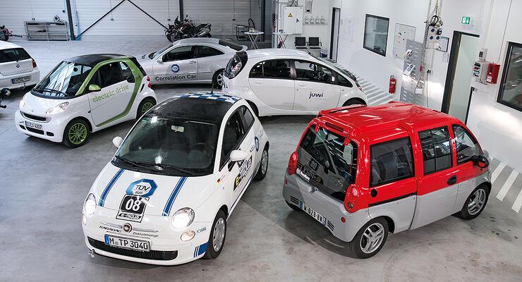 Fiat 500 Elektro Karabag, Mitsubishi i-Miev, Smart ED, Mia Electric