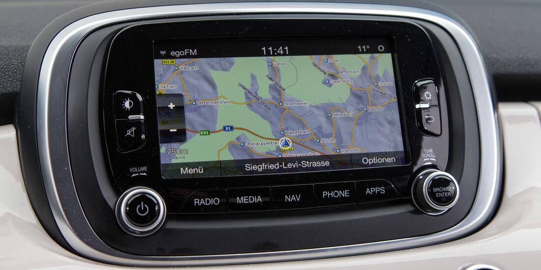 Fiat 500X 1.6 Multijet, Navi, Monitor