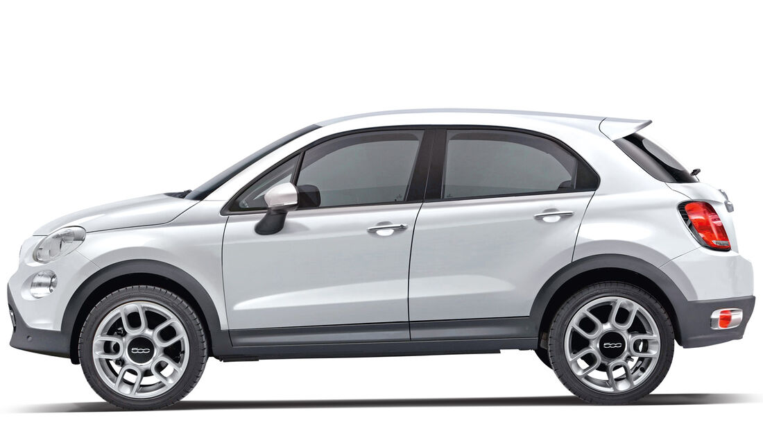 Fiat 500X, Seitenansicht
