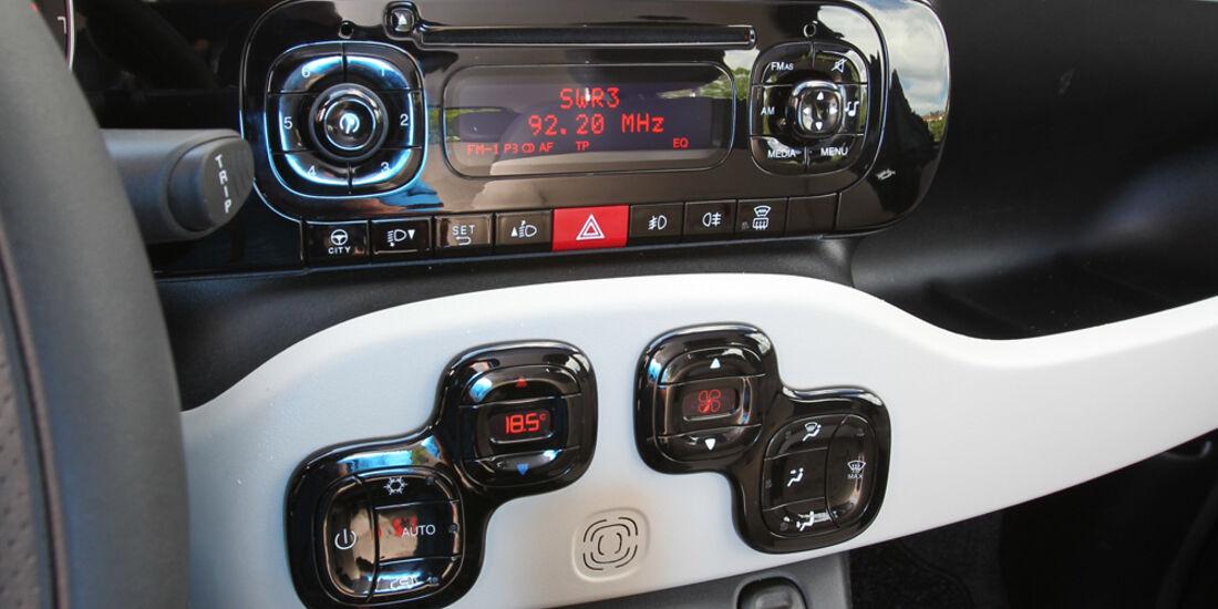 Fiat Panda 1.2 8V Lounge, Mittelkonsole