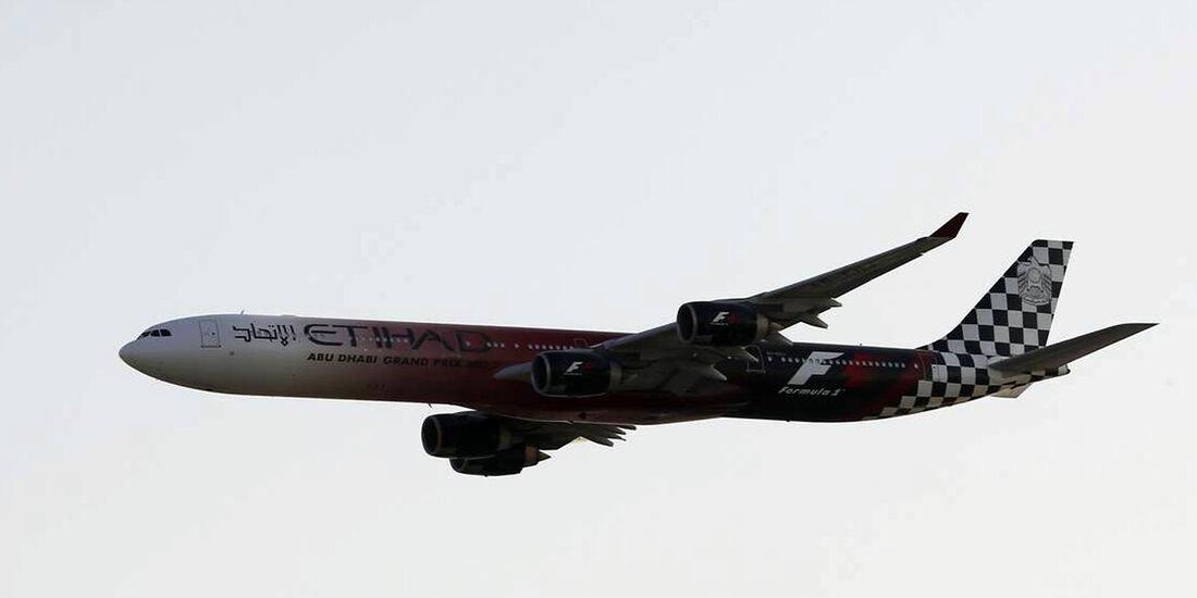 Flugzeug - Formel 1 - GP Abu Dhabi - 03. November 2013